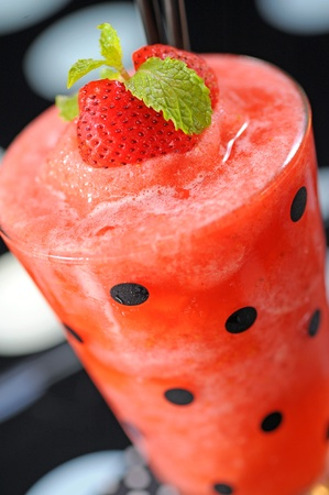 granizados: Strawberry smoothie