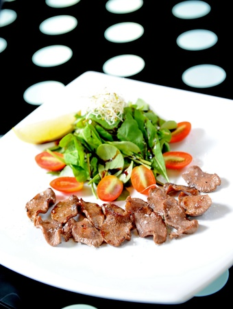 Salad with meat photo