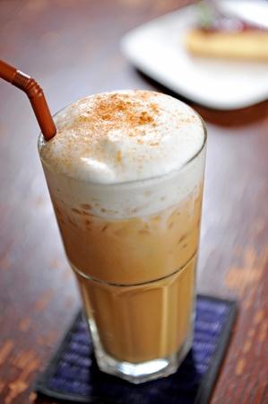 cold fresh ice coffee photo