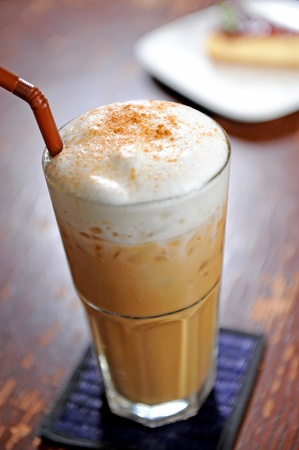 capuccino: cold fresh ice coffee
