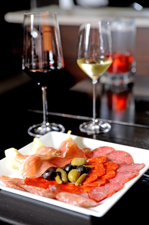 andalucia: appetizer and wine Stock Photo