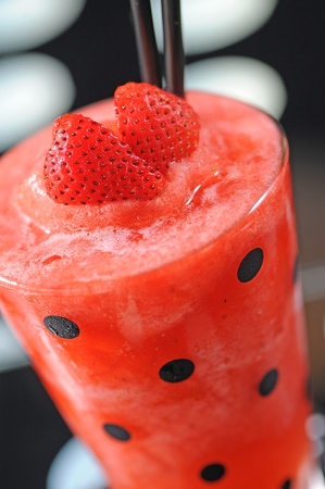 strawberry juice and frappe