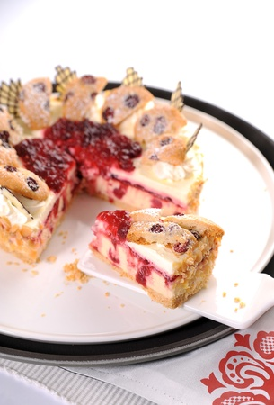 cream puff: Slice of cake