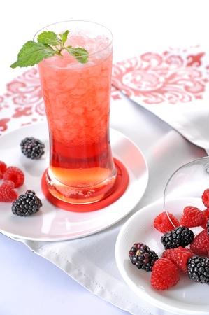 granizados: Bayas bebida Foto de archivo