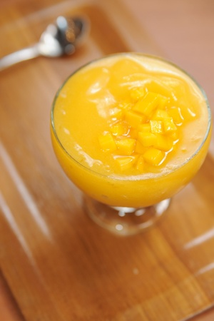 Mango smoothie photo