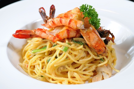 Spaghetti with Seafood Stock Photo - 12007665