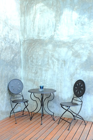 chair and wall photo