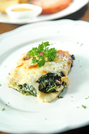spinach with cheese photo