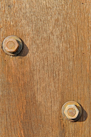 rusty nail: Wooden panel with screws