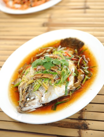 steamed fish chinese style photo