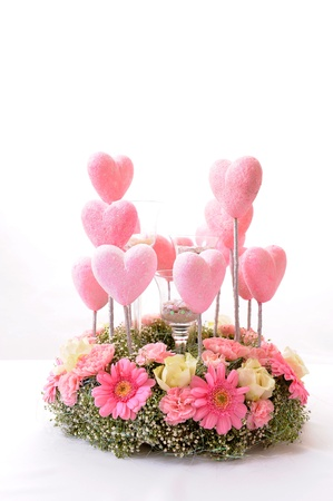 flowers and hearts photo