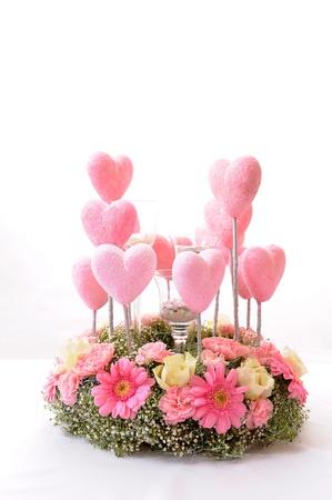ox eye daisy: flowers and hearts