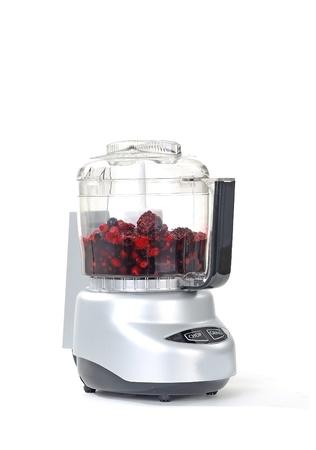 licuadora: Blender con batido de frutas aisladas sobre fondo blanco Foto de archivo