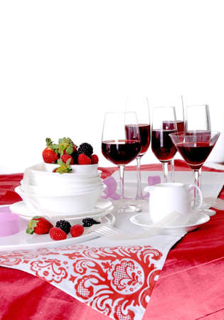 Details of a table set for fine dining photo