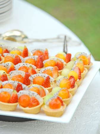 Fresh fruit tart photo