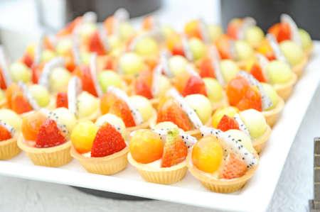 Fruit cake desert photo