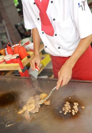 Chef preparing food Stock Photo - 12826563