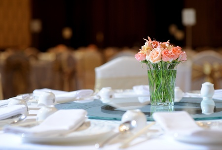 Tischset für eine Hochzeit Abendessen Standard-Bild - 13343254