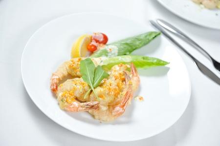 shrimp boat: fried prawn food