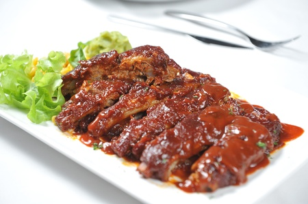 delicious BBQ ribs photo