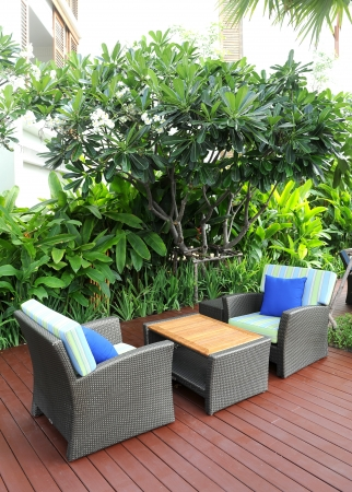 chairs on the patio 版權商用圖片