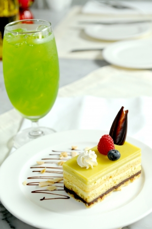cake and drink photo
