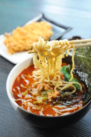 noodle bowl: Noodles , Japanese Food Stock Photo