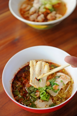thai noodle soup: fish noodle