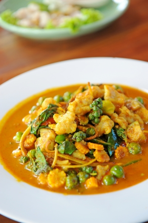 thai curry with spicy photo