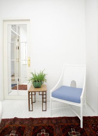 Classic white interior Foto de archivo