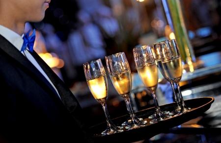 barman: serving wine
