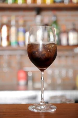 cocktail on bar photo
