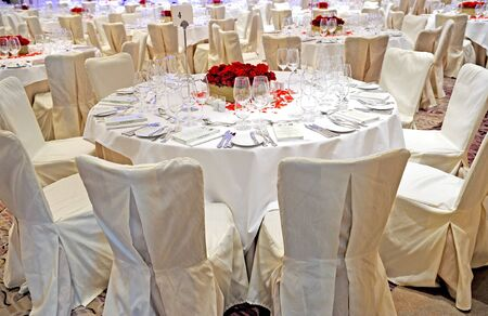 functions: wedding table setting Stock Photo