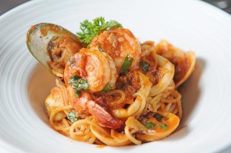 Spaghetti met zeevruchten Stockfoto - 14558776