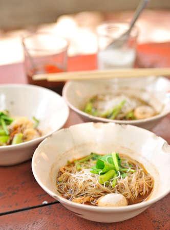 thai noodle soup: Thai Noodle Soup with Meat