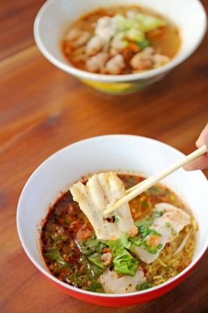 thai noodle soup: Asian cuisine