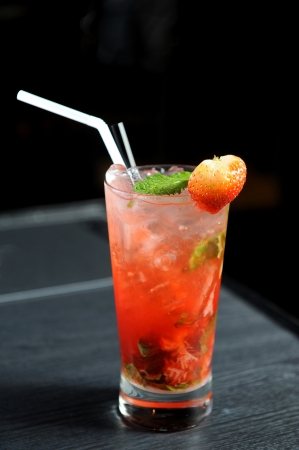 Strawberry cocktail photo