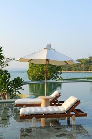 villas: Luxury Sea Stock Photo