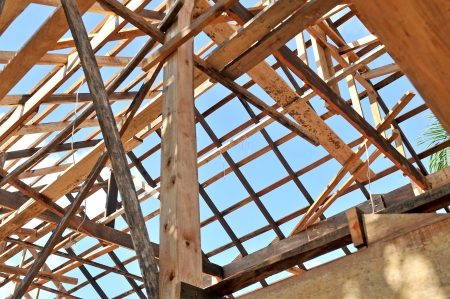 wooden joists: New residential construction