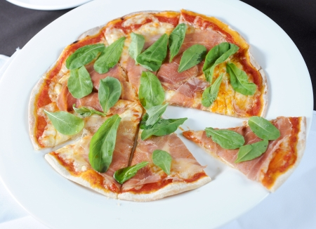 Pizza with dry photo