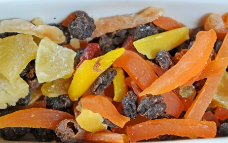 Mix of different dried fruits photo