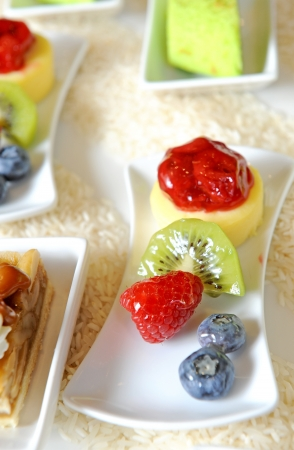Fresh fruits dessert photo