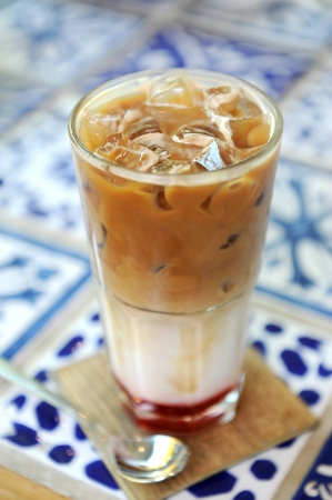 ijskoffie Stockfoto