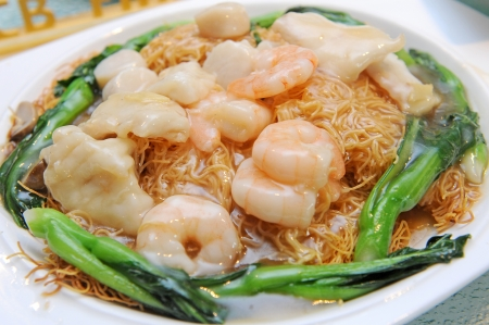 vermicelli: noodles with prawns