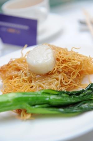 mee pok: noodles  stir-fried noodles Stock Photo