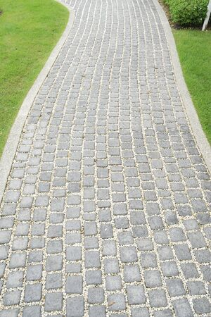 cobblestone street: Stone walkway Stock Photo