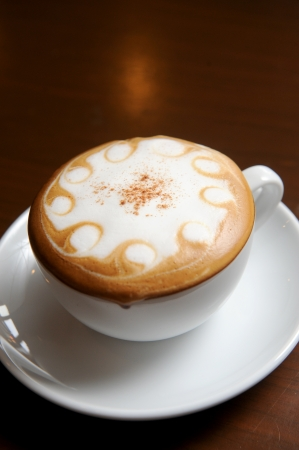 french cafe: Cup of hot drink