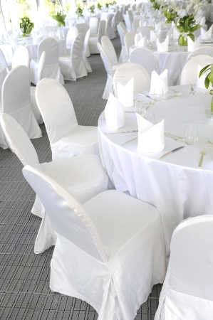 banquets: Wedding table Stock Photo