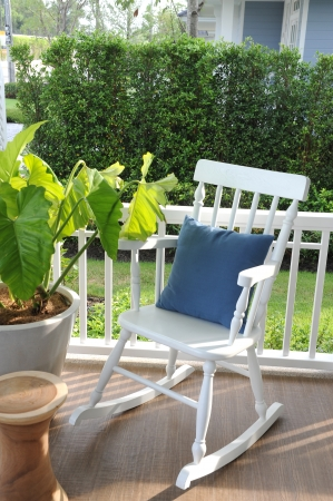 wooden rocking chairs photo