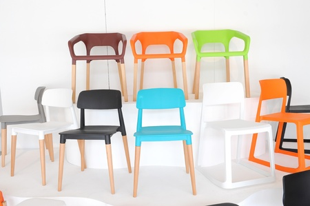 Colorful chairs photo